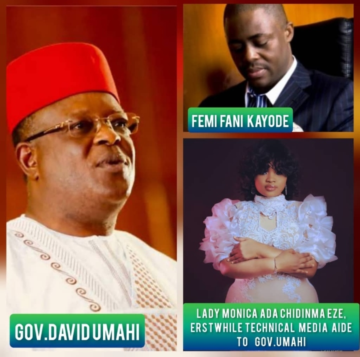 Former Media Aide to Umahi, Monica, Describes Fani-Kayode Claims that he Lured Ebonyi State Governor to APC as Self-asserting, Frivolous, and Inconsequential